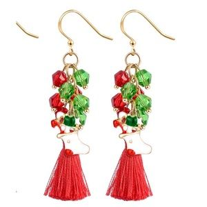 Tassel holiday earrings